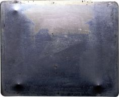 Nicéphore Niépce, Original Plate of the First Photograph, 1826/27. Heliograph, 8-hour exposure. France