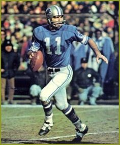 Greg Landry. Gregory Paul Landry (born 12/18/1946 in Nashua, New Hampshire) is a former American football player and coach who played quarterback in the National Football League from 1968 to 1981 and again in 1984. He played for the Detroit Lions, Baltimore Colts, and Chicago Bears. He currently ranks third on all-time Lions career yardage list (12,451) and ranks second in touchdown passes with 80.