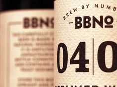 Brew By Numbers branding - Retail Design Blog