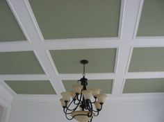 Home Remodeling Ceilings 10 Coffered Ceiling Ideas: Create An Elegant Impression for Your Room, Ceiling Trim, Ceiling Tiles, Ceiling Beams, Ceiling Design, Coffered Ceilings, Ceiling Decor, Paint Ceiling, Wall Trim, Ceiling Detail