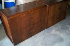 """two solid wood lateral file cabinets, $50 each furniture quality, commercial strength locking drawers 39"""" wide x 19"""" deep x 29"""" high / Palo Alto, CA, United States"""