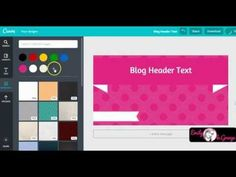 How to Create Blog Header Image Templates with Canva - YouTube