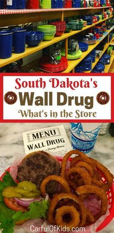 Wall Drug Store along Interstate 90 in South Dakota supplies everything a traveler forgot at home and a cafe packed with burgers and donuts. South Dakota Vacation, South Dakota Travel, North Dakota, North America, Road Trip With Kids, Family Road Trips, Road Trip Usa, Family Travel, Interstate 90