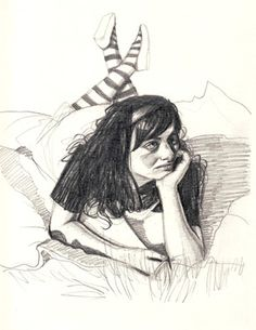 "Saatchi Online Artist Dora Ragusa; Drawing, ""Alice in Wonderland"" #art"