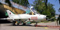Aviones Caza y de Ataque: Chengdu J- 7 Fishbed           Cañones: 2× cañones Tipo 30-1 de 30 mm con 60 proyectiles cada uno. Puntos de anclaje: 5 con una capacidad de 2000 kg, para cargar una combinación de: Cohetes: 2 x coheteras de 12 tubos de 55 mm 2 x coheteras de de 7 tubos de 90 mm Misiles: 2 x PL-2 2 x PL-5 2 x PL-7 2 x PL-8 2 x PL-9 2 x Matra R.550 Magic 2 x AIM-9 Sidewinder