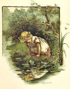 """""""Reflections"""" -- by Harriett M. Bennett (English, 1870--1921)"""