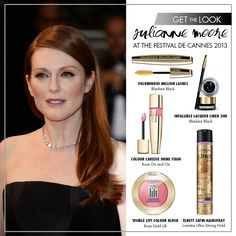 Re-create Julianne Moore's elegant Festival de Cannes red carpet look with these products!
