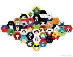 Hexgonal superheroes - Photo 2 | Image courtesy of Simona Merlini