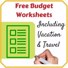 #Budget Worksheets Including Ones for #Vacation and #Travel. I wouldn't have remembered some of these! http://www.moneysavingenthusiast.com/2014/08/budgeting-free-printables/