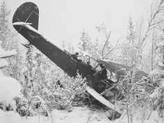 A downed Russian plane in Finland during the Winter War