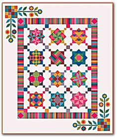 Inspired by classic Amish quilts with their bright colors and strong shapes, Nancy Rink's Amish With A Twist is a powerfuil quilt that is designed especially for the beginning quilter, but beautiful enough for the most advanced of quilters. Featuring the Marcus Brothers 'Centenial Solids' fabric, the colors and finish of the cotton were carefully planned for an authentically Amish effect.In All, you will complete15 new lessons focusing on the basic shapes most common to quilting as well as…