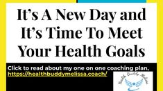 it's a new day, 30 day coaching plan – Health Buddy Melissa