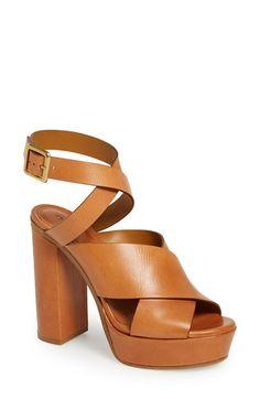 Chloé Ankle Strap Platform Sandal (Women)