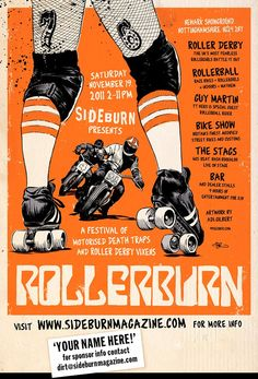 sailornelly:    Rollerburn!  Soooooo want to go to this! I'm sure I've had a dream about Roller Derby and Guy Martin!!!