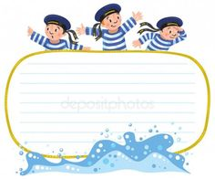 Banner nebo kartu s happy námořníci Banner, Illustration, Happy, Cards, Free, Banner Stands, Banners, Illustrations, Ser Feliz