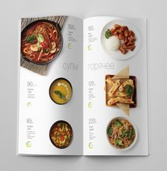 Special spring menu on Behance