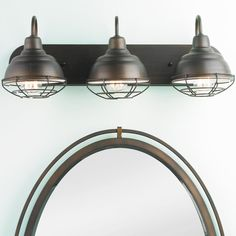 antique bathroom light fixtures. progress lighting archie collection 3-light venetian bronze vanity light with clear polished glass shades | lighting, and bath antique bathroom fixtures r