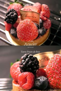 Tarte Fruits De Bois   Patisserie Acacier