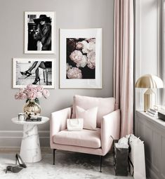 Gallery Wall Inspiration - Shop your Gallery Wall Room Ideas Bedroom, Home Decor Bedroom, Living Room Decor, Chic Apartment Decor, Inspiration Wall, My New Room, Home Interior Design, Living Room Designs, Poster Store