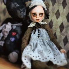 teddy doll/art doll/ Art Dolls, Disney Characters, Fictional Characters, Black And White, Disney Princess, Black White, Blanco Y Negro, Fantasy Characters, Disney Princes