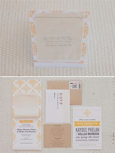 yellow and gray wedding invitations by http://www.etsy.com/shop/papercitydesign photos by http://jackiewondersblog.com/