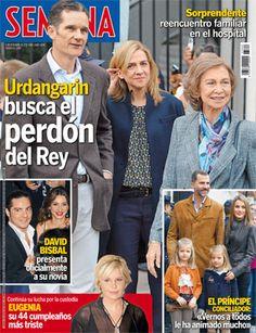 Urdangarín busca el perdón del Rey. nuestra portada de hoy miércoles