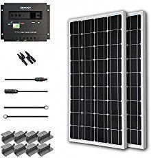 Renogy 400 Watt 12 Volt Monocrystalline Solar Starter Kit Portable Solar Panels Solar Kit