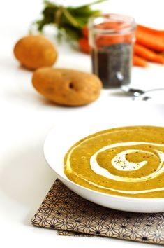 Entrée de Noël : Velouté de lentilles vertes au cumin (vegan, sans gluten) - Sweet & Sour   Healthy & Happy Living http://www.sweetandsour.fr