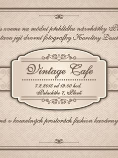 Pavel Mesner - Posters Electro Swing, Vintage Cafe, Posters, Vintage Coffee, Poster, Billboard, Vintage Coffee Shops