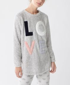 Толстовка Love с длинными рукавами - Жакеты и свитера - Тенденции женcкой моды…