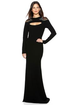 776d8650564151 BADGLEY MISCHKA Cut-Out Long Sleeve Gown. I completely redesigned. Cut it  above the knee and cut out the back.