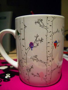 Birds and Birch Mug