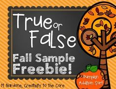 FREEBIE Pumpkin Addition Sort
