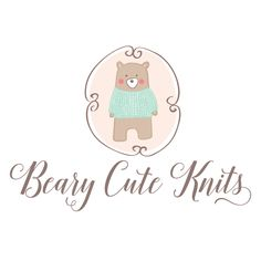 Premade Logo Design - Cute Bear Premade Logo Design - Customized with Your Business Name!