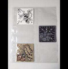 *1x5 Stück* Klarsichthüllen in DIN A 4 für 12 Bilder, oder Zentangle® Tiles im Format 9x9 cm. Bildeinschub ist von oben, es kann nichts herausfallen. (Verkauf der Hüllen ohne Inhalt, nur der...