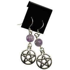 Pentacle with Power Stones Earrings from The Moonlight Shop - 1