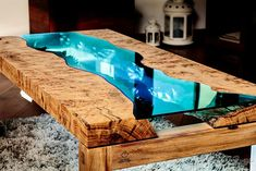 Daniele Coan handmade river table