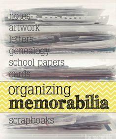 Organizing Memorabilia