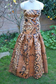 Authentic Tapa Cloth dress by ISLANDMANA on Etsy