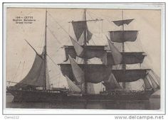 Three-masted barque at Cette
