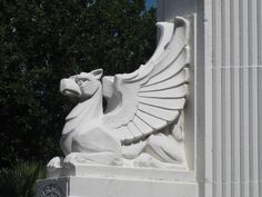 Art Deco Griffin Detail on the City of Coburg Commemorative Fountain