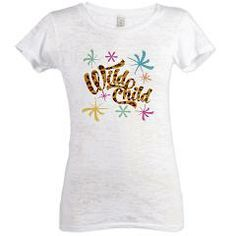 Wild Child Womens Burnout Tee> Casual Cool> Cafe Varietees