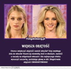 Stylowi.pl - Odkrywaj, kolekcjonuj, kupuj Diy Beauty, Beauty Hacks, Hair Hacks, Health And Beauty, Life Hacks, Hair Care, Good Things, Face, Glow