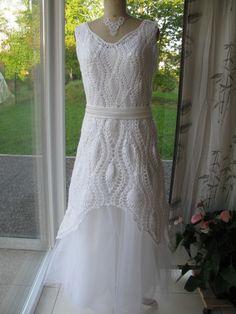 Robe de mariée, crochet http://cafe-tricot-the-namur.skynetblogs.be/archive/2013/09/23/ma-robe-de-mariee-7933033.html
