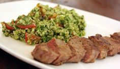Steak With Ginger Sauce And Quinoa Tabbouleh - The Candida Diet