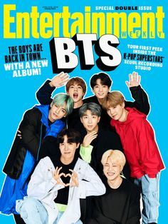 BTS is dominating the K-pop industry as they're pulling all eyes to them and towards South Korea. The Bangtan Boys are featured in 'Entertainment Weekly's latest issue. The magazine covers the boys' exclusive interview and pictorial. Boy Scouts, K Pop, Kpop Posters, Movie Posters, Les Beatles, Hip Hop, Les Bts, The Greatest Showman, News Studio