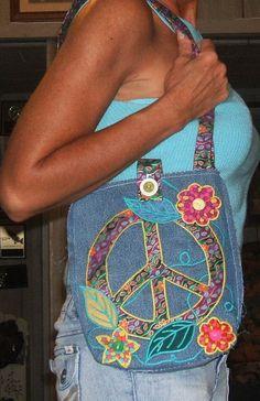 peace sign...love the purse!!!