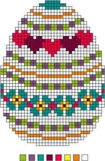 Three Needlepoint Easter Eggs Set 2 - Instructions for Easter Eggs