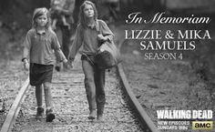 RIP Lizzie and Mika. #LookAtTheFlowers #TheWalkingDead