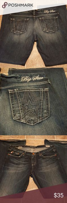 Big Star Jeans Vintage Nice shape big star vintage jeans low boot. Sweet size 31 regular inseam is about 30 and a half Big Star Jeans Boot Cut